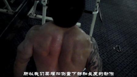 摇头岭车神健美训练第7弹 打造背部肌肉宽度长度 肱二头肌 小臂