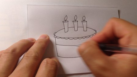 儿童卡通简笔画.蛋糕的画法