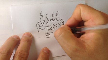 生日蛋糕-简笔画各种蛋糕的画法1