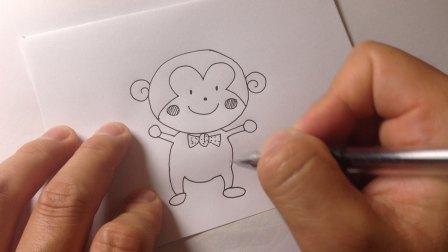 怎样画卡通简笔画.小猴子