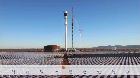 太阳能场建设慢速拍摄,温室项目,南澳大利亚