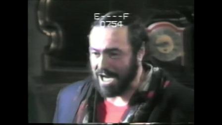 帕瓦罗蒂 演唱之前准备工作《船夫》 Il Barcaiolo 1987年意大利摩德纳