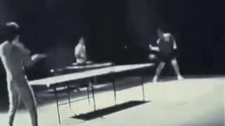 李小龙双截棍打乒乓