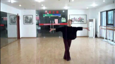 张惠萍舞蹈<形体舞===中国我为你歌唱>正、反面示范
