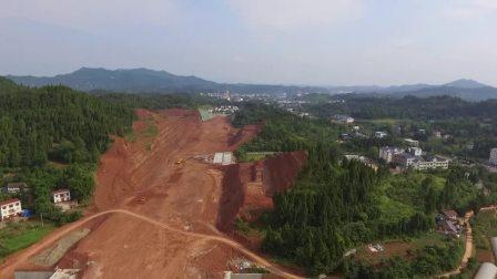 G244线蓬安县城过境段(燕山大道)改线工程进展