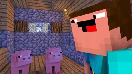 我的世界动画-复制小猪