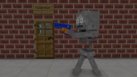 我的世界动画-玩具枪挑战-Kreyn
