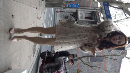 4K 街拍公主裙美腿气质网红美女