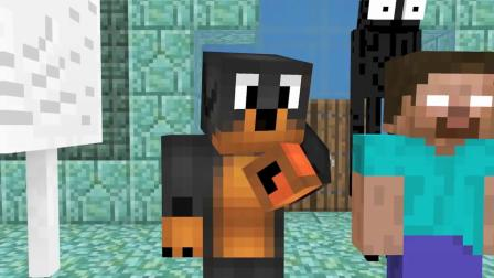 我的世界动画-泳池鲨鱼挑战-Donut The Dog