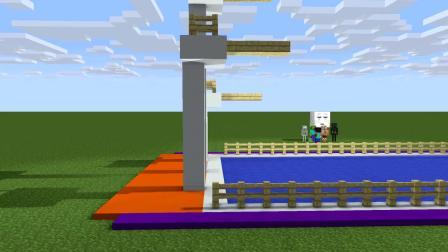 我的世界动画-怪物学院-跳水-Mavic