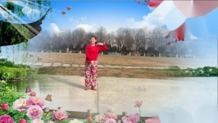 玫瑰百合广场舞:《小调情歌桃花红》