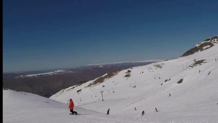 新西兰南岛Cardrona雪山单板滑雪