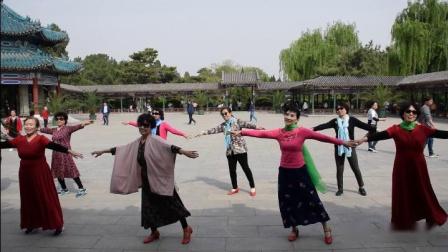 中山公园排练舞蹈《雪山阿佳》 2019年4月21日。