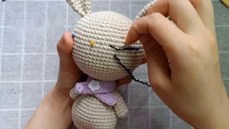 雨宝妈手作第10集大头玩偶之-小兔子编织教程织法和图解