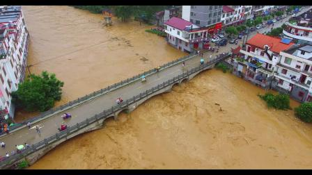 万安县涧田乡2019.6.9特大洪水