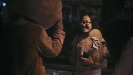 别人家男友!韩钦佩穿小熊玩偶服,不远万里只为女友送惊喜