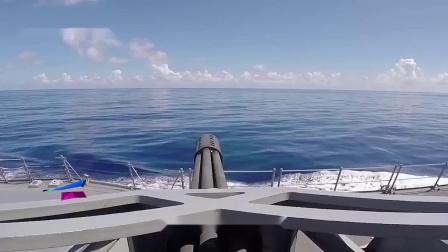 美国密集阵系统,配备火神机炮,能发射密集的弹幕拦截目标