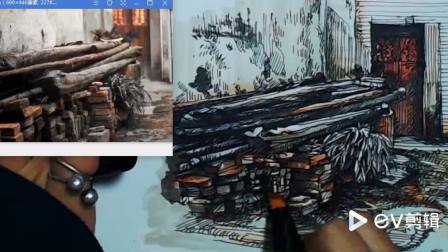 手绘马克笔——木头物语2.mp4