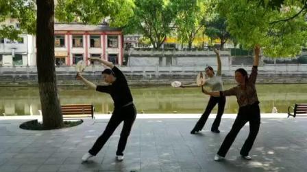 形体舞《太湖美》张怡、庞傲智、宋芬仨美媚2020.5.2下午大足滨河公园学跳。