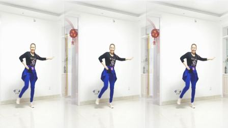 好心情蓝蓝广场舞原创【188】母亲节特献一曲 【慢慢爱正背面】网红舞曲弹跳舞步附教学