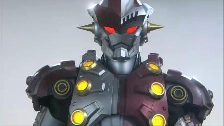 银河奥特曼:钢铁九号嘲笑小光,小光怒了变成怪兽,一头把它撞到