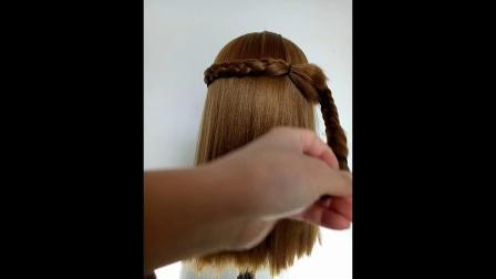 长发中长发扎头发辫子苹果头蘑菇头长发编发教程