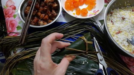 【昭尔茹悦线馆的粽情】【梅子】教你包粽子编织实例