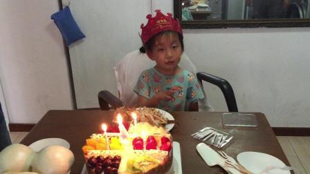 2017年6月10日郝禹鑫生日的第二天吃蛋糕,9日发烧了,10日补上生日蛋糕,孩子特高兴,于昌平。