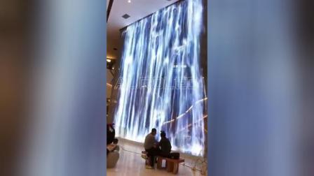 创意水幕LED透明屏|购物中心透明屏|武汉K11艺术广场透明LED屏