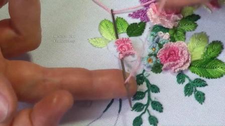 欧式立体绣--立体玫瑰花
