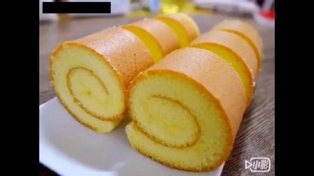 【原味蛋糕卷】超級簡單,比戚風蛋糕好做多了