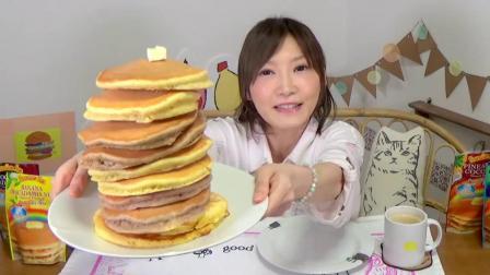 5种口味10个夏威夷风情煎饼 吃煎饼要配上一把乌克丽丽 木下大胃王 中文字幕 吃货木下_美食圈_生活