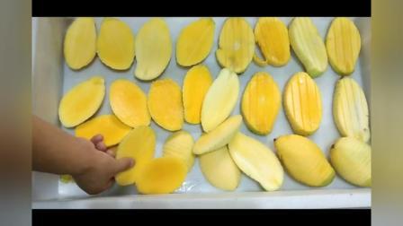 芒果去皮去核视频芒果削皮去核机芒果干加工生产线芒果加工视频