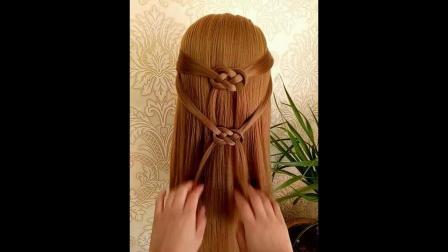 中长发有范儿儿童扎发辫子丸子头刘海莫西干中长发苹果头