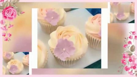 生日蛋糕裱花制作 各种韩式裱花的花型 蛋糕裱花视频