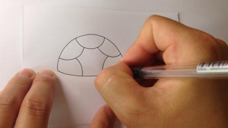 儿童学画画.简笔画-可爱的小乌龟