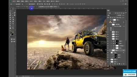 PS教程:Jeep大片广告制作