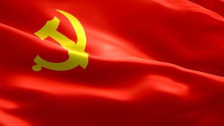 S331  党的旗旗帜 党旗飘扬高清背景视频高清视频素材