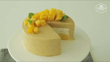 芒果冰淇淋蛋糕   Mango ice cream cake Recipe