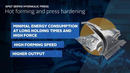 New servo hydraulic press by AP&T