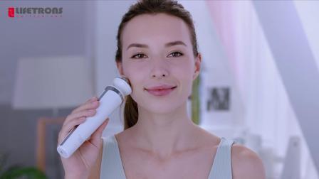 lifetrons励富创充电式彩光超音波离子嫩肤仪UI-200短介绍与操作  彩光美容仪祛痘嫩白营养导入