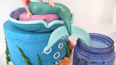 如何制作美人鱼,彩虹马卡龙蛋糕,海绵宝宝,蜡烛蛋糕(蛋糕甜点教程)
