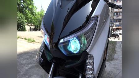 南京电摩大功率电动车电摩酷车马杰斯特t8改装灯光