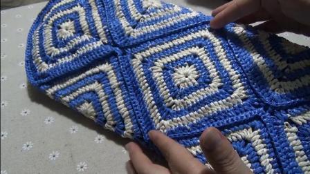 第115集 棉草拉菲复古菱格手提包(下)-许红霞教编织