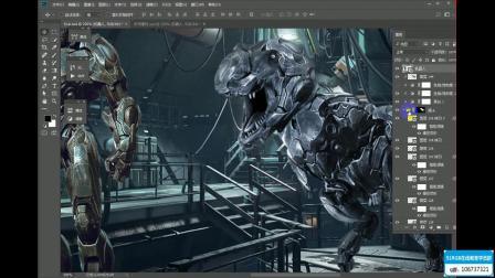 PS教程:打造狂拽炫酷的机械霸王龙(51RGB在线教育)