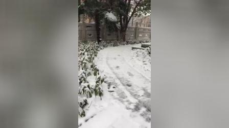 梅山文化公园雪景