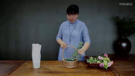 插花教程插花培训-玫瑰鲜花蛋糕制作