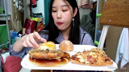 【吃播】85度C面包和炸鸡_美食圈_生活