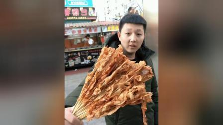 美食吃货: 2元一串的麻辣豆皮