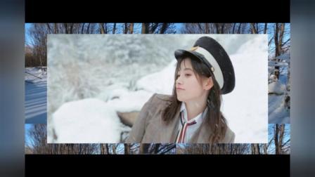 女艺人鞠婧祎漫步雪地甜美俏皮可爱写真